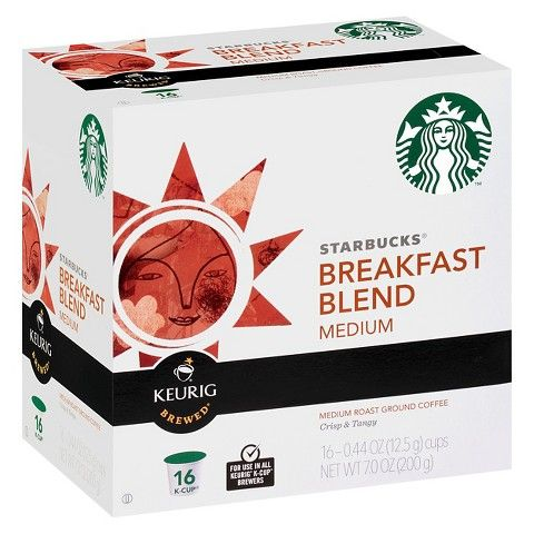 Keurig Starbucks Breakfast Blend Medium Roast Coffee K-Cups 16 ct