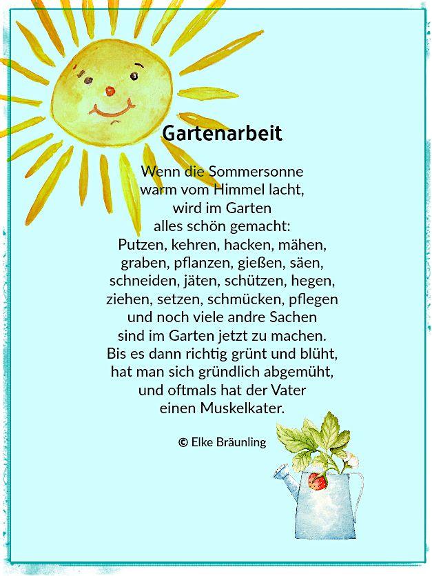 Gartenarbeit Kinder Gedichte Geschichten Fur Kinder Kindergedichte