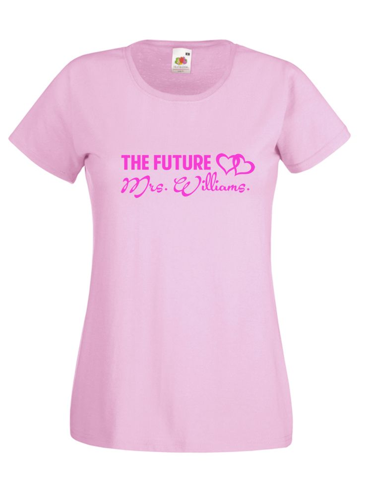 #Personalised The Future #Mrs #Ladies #Bride To Be Tshirt