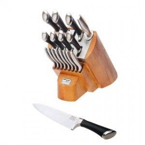 Chicago Cutlery Fusion Knife Block Set 1090390, 18-Pieces, Stainless Steel