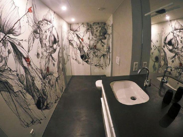 die 51 besten bilder zu fugenlose bäder, badgestaltung, badideen ... - Badgestaltung Mit Tapete