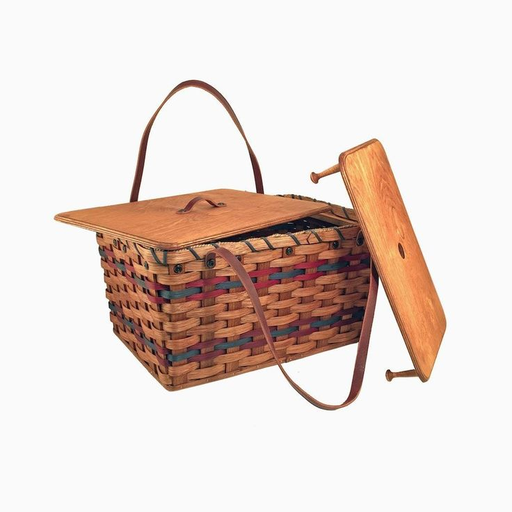 Amish Made Traditional Picnic Basket