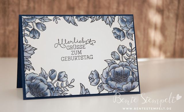 Stampin 'Up! Ideas, instructions and Products> Bente STAMPS: Aquapainter Week Part 3: Differences and Application