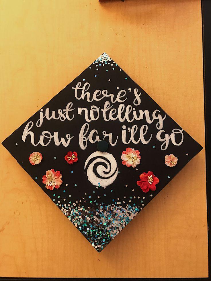 Moana inspired graduation cap || materials from Michaels