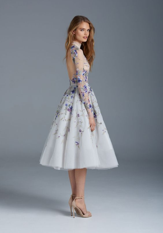 The Nightingale Paolo Sebastian Inspired Real Luxury Designer Tea Length Evening Dresses with Delicate Embroidered Prom Gowns Formal Wear