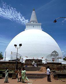 ルワンウェリ・サーヤ大塔。スリランカ 観光・旅行の見所。