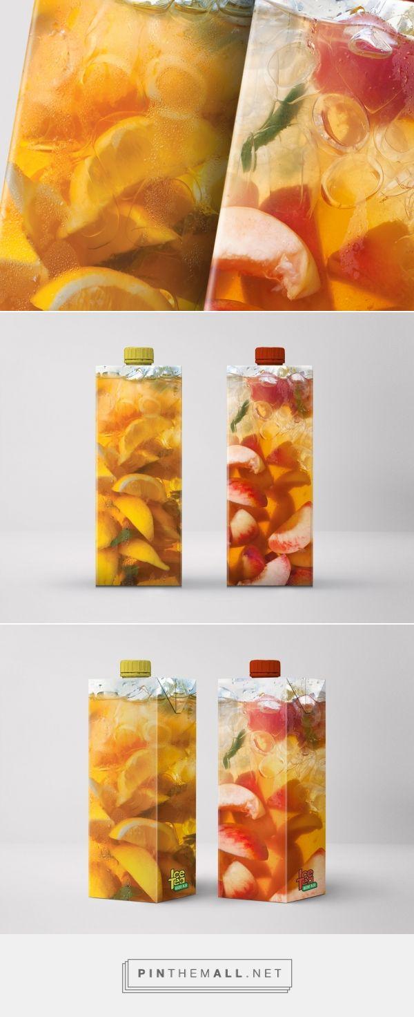 Kampa #IceTea #packaging #design by Kollektiv - https://www.packagingoftheworld.com/2018/04/kampa-ice-tea.html