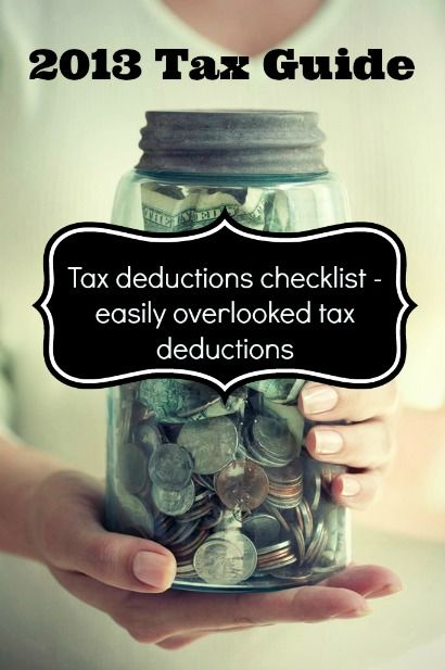Tax Deduction checklist - easily overlooked tax deductions
