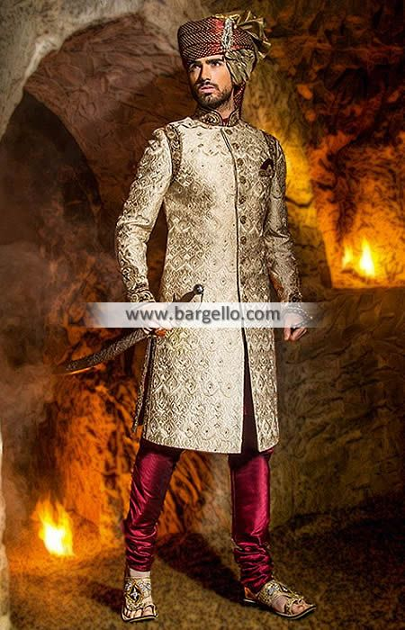 Miraculous Wedding Sherwani Suits Richmond Virginia VA US for Mens Sherwani Designs Ziggi Sherwani M956 New Arrivals