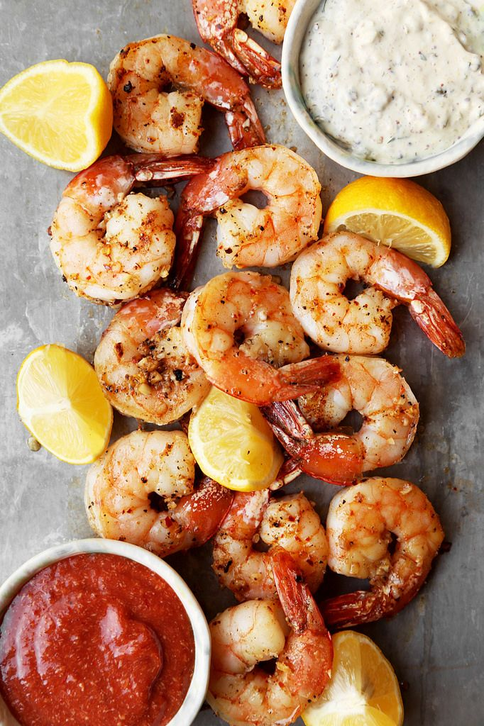 Roasted Shrimp Cocktail is made with jumbo roasted shrimp that's seasoned and roasted in the oven. Served with homemade cocktail sauce and remoulade.
