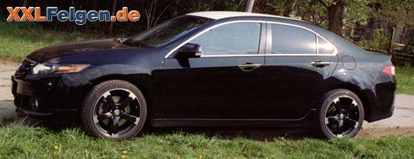 Honda Accord CU2 und DBV Torino II Alufelgen schwarz/poliert 18 Zoll