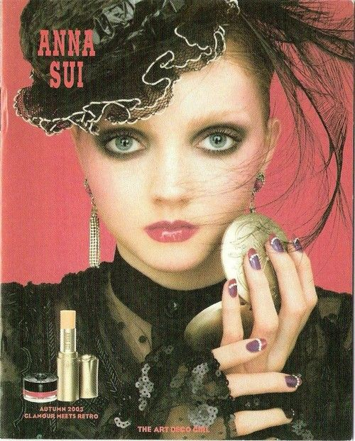 Lily Cole for Anna Sui 2003 autumn, glamour meets retro