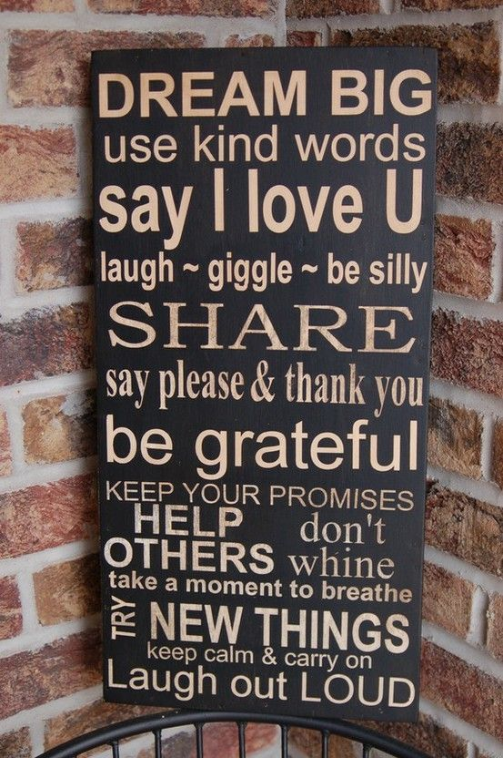 Family Rules: Families Values, Kind Words, Subway Art, Dreams Big, Inspiration Words, Life Rules, Mr. Big, Houses Rules, Families Rules