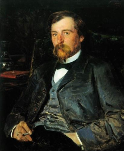 Portrait of the Artist Illarion Mikhailovich Pryanishikov - Vladimir Makovsky, 1883, Tretyakov Gallery, Moscow