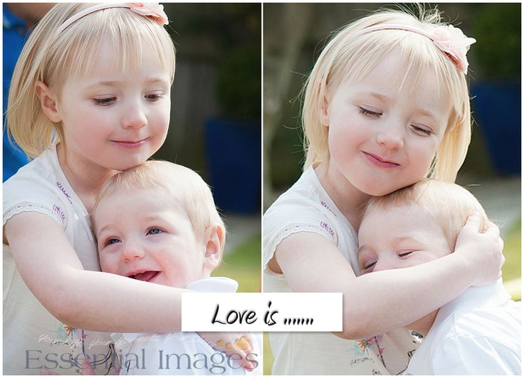 Love is ......  a sisterly hug for baby brother!  So sweet! http://www.hampshirebabyphotography.co.uk