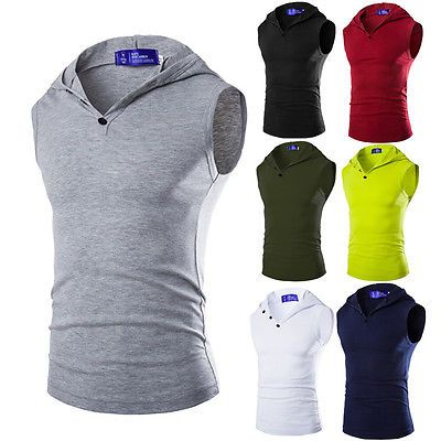 Sexy mens #stringer bodybuilding vest tank tops gym #singlet #muscle hooded t-shi,  View more on the LINK: http://www.zeppy.io/product/gb/2/182194350309/