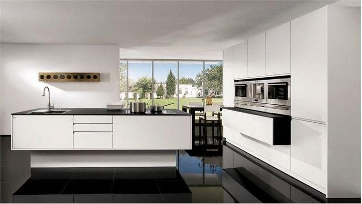 cocina blanca y negra minimalista #cocinasrusticasminimalista