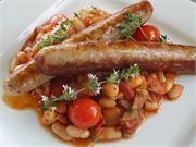Italian casalinga sausage with homemade baked beans