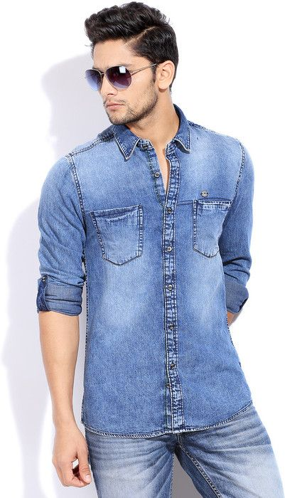 Integriti Men's Solid #Casual #Shirt #Fashion #Style #BeUrself #Denims