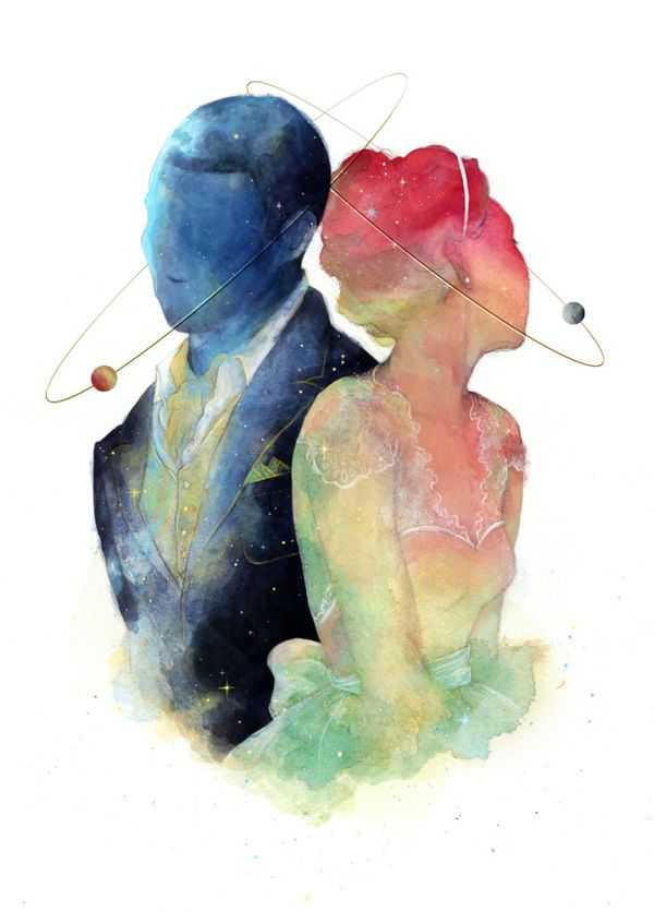 Galaxy Wedding Stationary by Caitlin Russell, via Behance