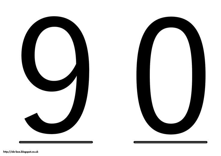 Tarjetas de los n meros 9 y 0 son grandes y visuales para for Numero deputati alla camera