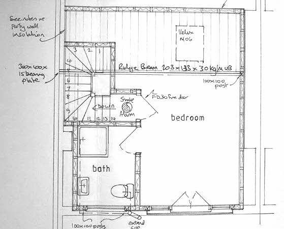 loft extension floor plans - 25 best ideas about Loft conversion plans on Pinterest