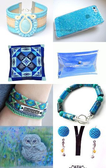 Shades of blue from Poletsy. :) by poletsy on Etsy--Pinned with TreasuryPin.com