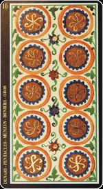 Online Kartenlegen: Ich und du mit Visconti Sforza als Tarot Orakel-Spiel, kostenlos und gratis
