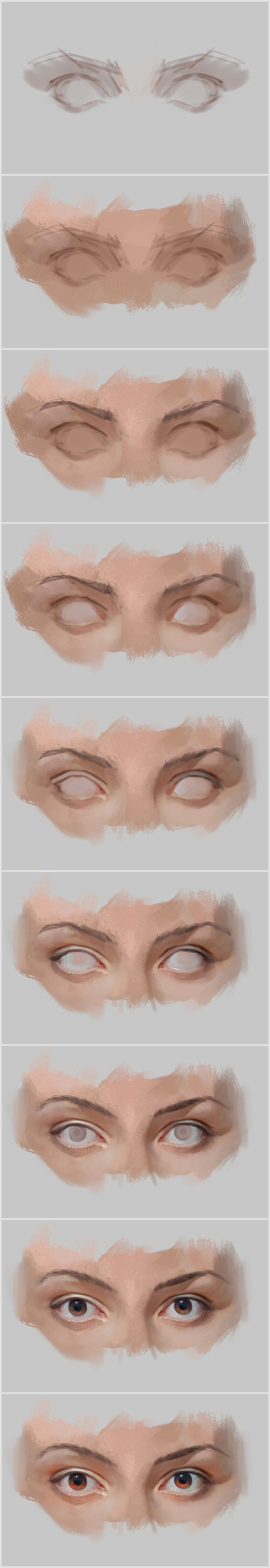 How to paint eyes in Photoshop step by step