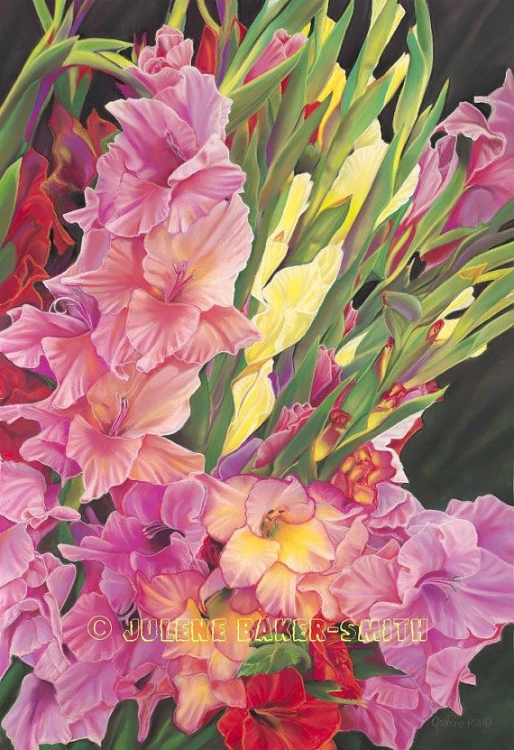 Summer Gathering Gladiolus Fine Art Print by ArtByJulene on Etsy, $15.00