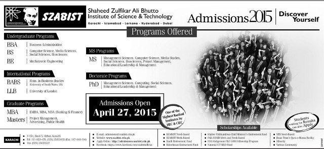 Shaheed Zulfikar Ali Bhutto Institute of Science