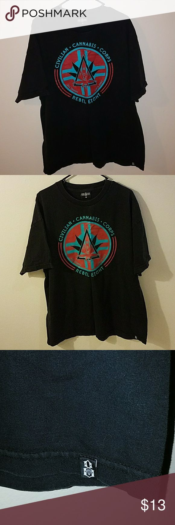 Rebel 8 men's t-shirt Rebel 8 men's shirt. Size XXL. Faded but still in awesome condition. rebel 8 Shirts