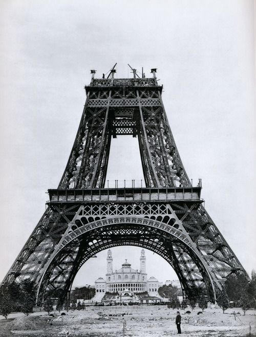 Anonymous photograph of the Eiffel Tower under construction in Paris for the World Exposition, 1887-1889