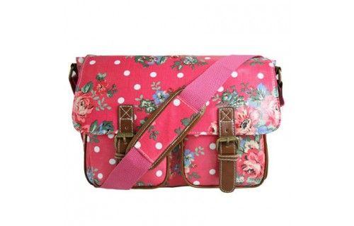 Miss Lulu Vintage Style Satchel Bag - Floral Style