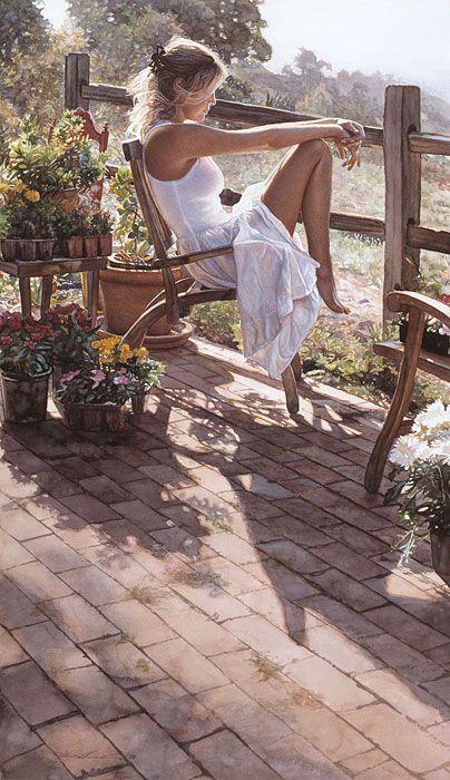 Steve Hanks - Where The Healing Begins (http://www.hiddenridgegallery.com/store/steve-hanks/where-the-healing-begins.html)  #art #stevehanks