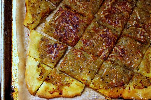 Rich Caramelized Onion Tart With Fennel.