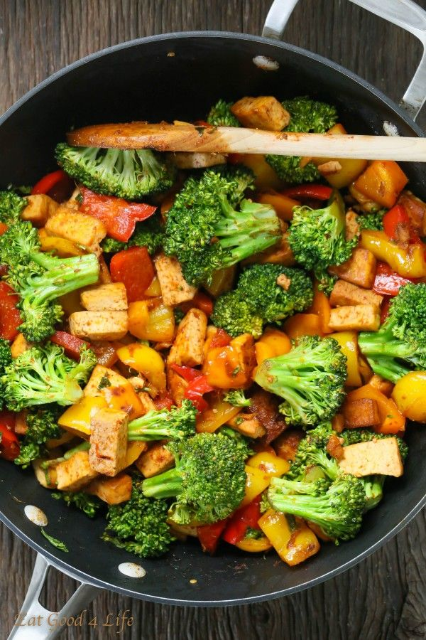 Quick veggie tofu stir fry. V. good. Replaced the chili paste with peanut butter for small boy sake.