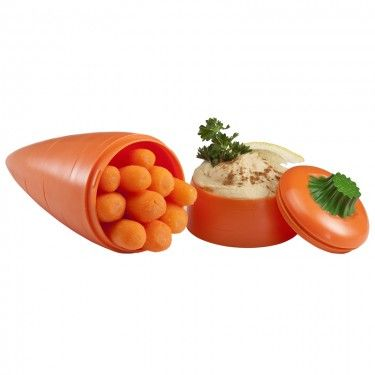 Healthy eating is so important for kids all ages and this Carrot and Dip on the Go Set is perfect On-the-Go…School, Travel or Office.  Slice up some crunchy carrots and add your favorite dip for a healthy snack on-the-go.  There are a variety of options you could have such as carrots & hummus or carrots & dressing