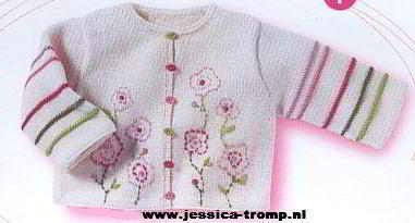 http://www.jessica-tromp.nl baby knit cardigan embroidered