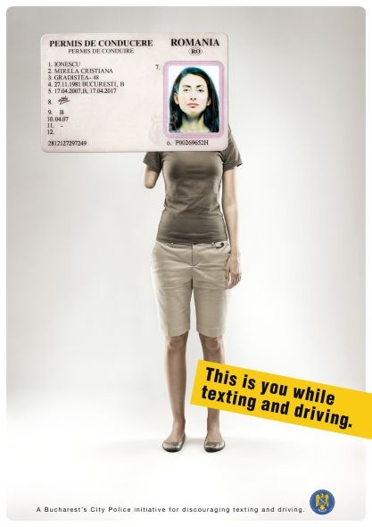 Be Careful while Driving...This is you while texting and driving..