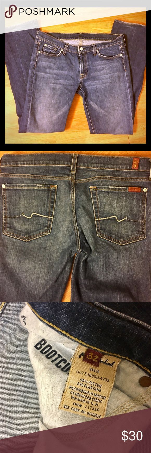 Seven for all Mankind bootcut jeans size 32 Seven for all Mankind bootcut jeans size 32. Good condition! 7 for all Mankind Jeans Boot Cut
