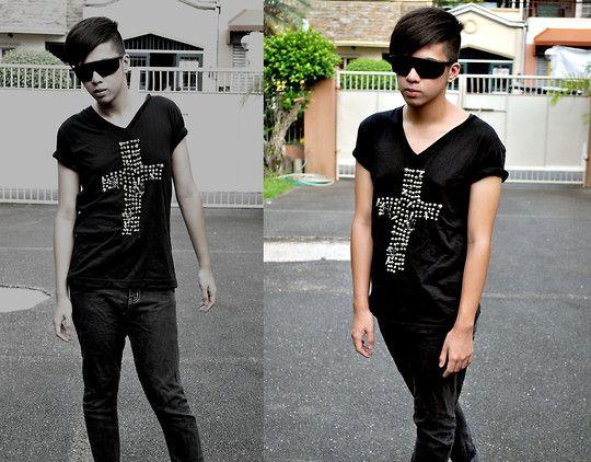 Thrift Shop jeans | Rush Romano - Thrift Shop Shades, Paris Roxas Studded Cross Shirt ...
