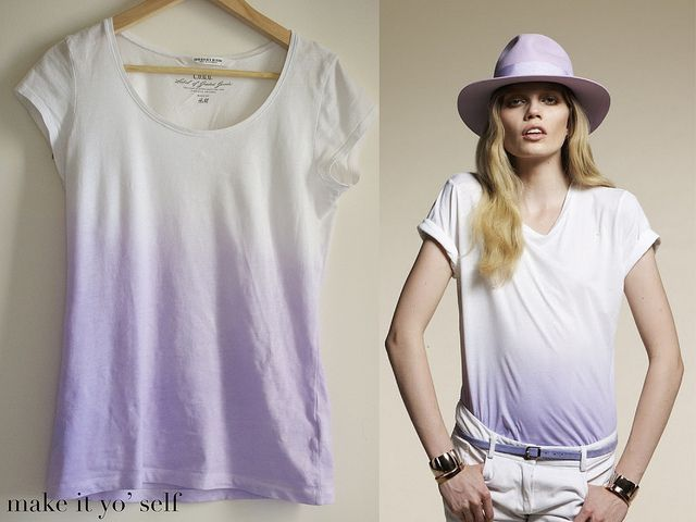 DIY ombre shirt.: Tie Dye, Ombre Tee, Craft, Diy Ombre, Diy Clothes, T Shirts, Dip Dye
