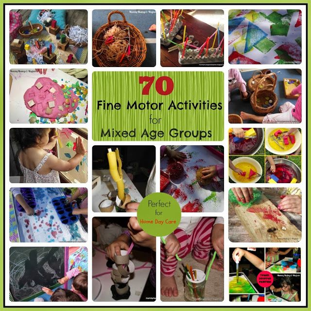 70 Fine motor #activities perfect for mixed ages & Home Day Care. Tips for modifying activities to keep all ages busy are included!  Mummy Musings and Mayhem: