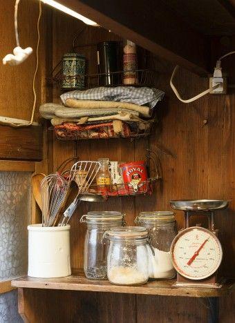 ヴィンテージな和風然としたキッチンも、なぜか今風に見えてしまうから不思議。