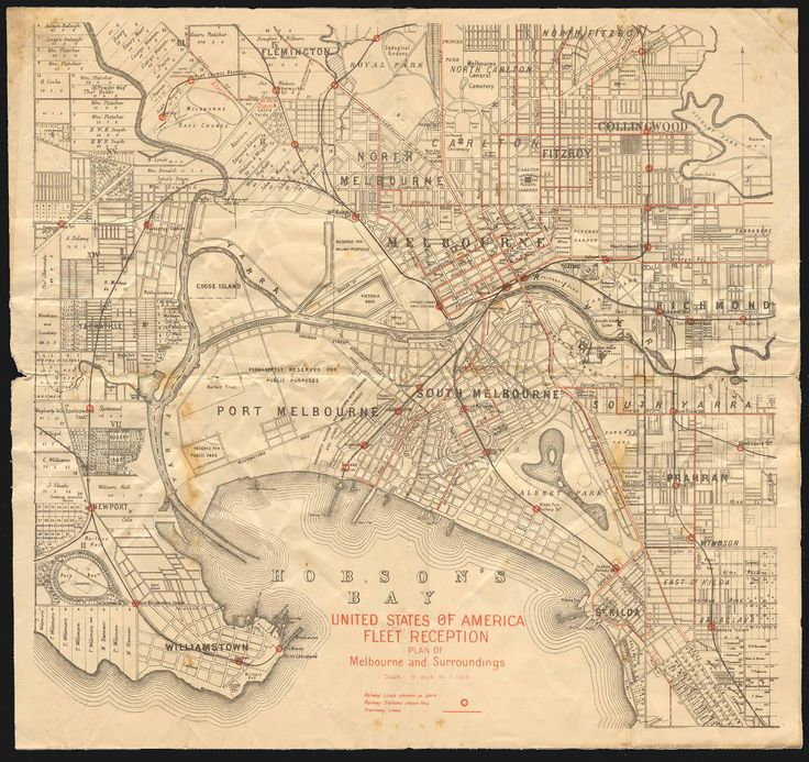 old melbourne map - Google 搜索