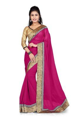 Ved Deal's Bollywood Replica Heavy Pink Designer Saree Bollywood Sarees Online on Shimply.com