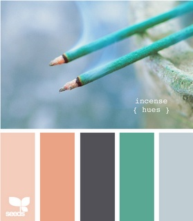 DD wants orange hues- I want turquoise- I can see how this could work