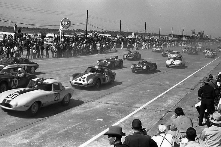Start of 1963 Sebring 12 Hour GP by Nigel Smuckatelli