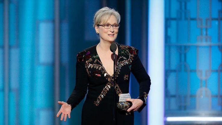 Politische Rede bei Golden Globes: Meryl Streep empört sich über Trump